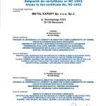 Certyfikat ISO-załącznik